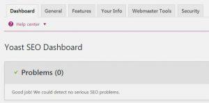 yoast seo dashboard