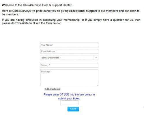 click 4 Surveys Support