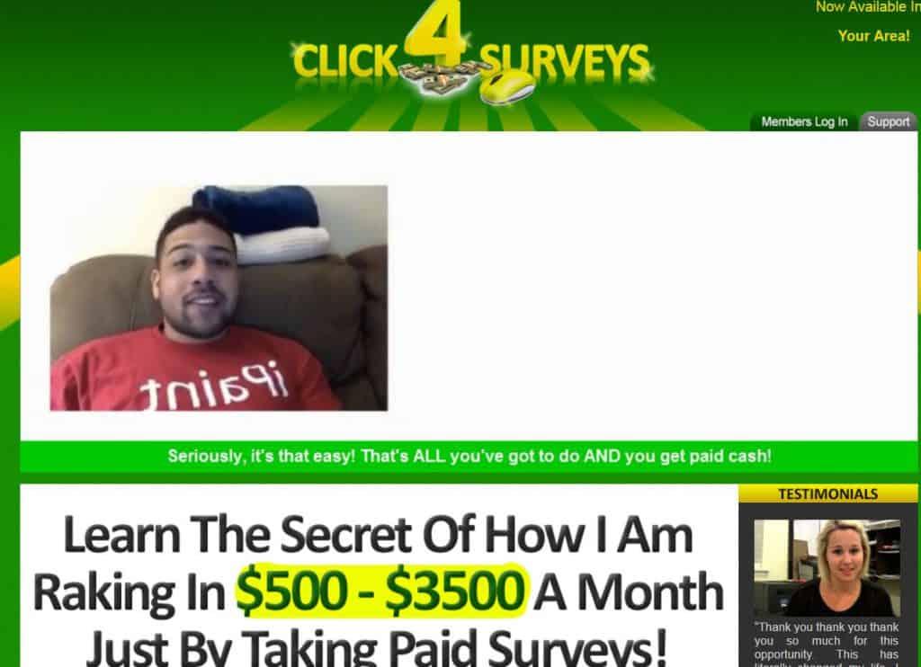 Is Click 4 Surveys a Scam