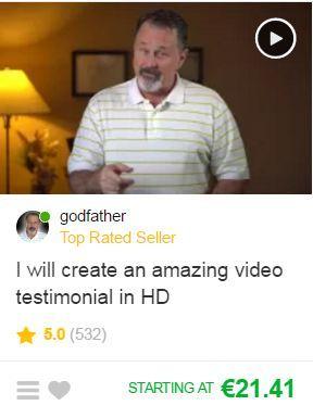Fake Testimonial 2 Fiverr Gig