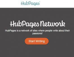 Hubpages home page