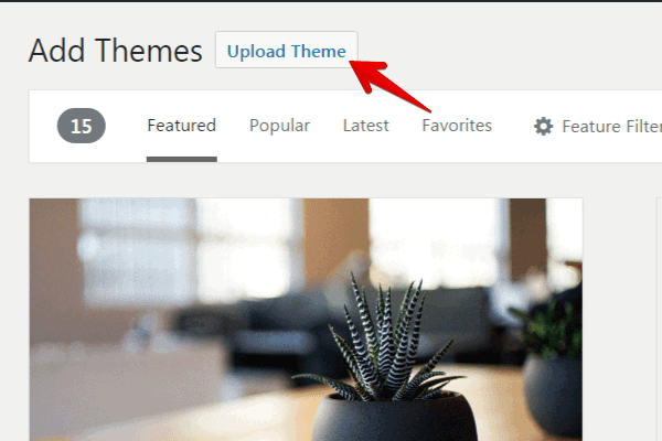Upload theme