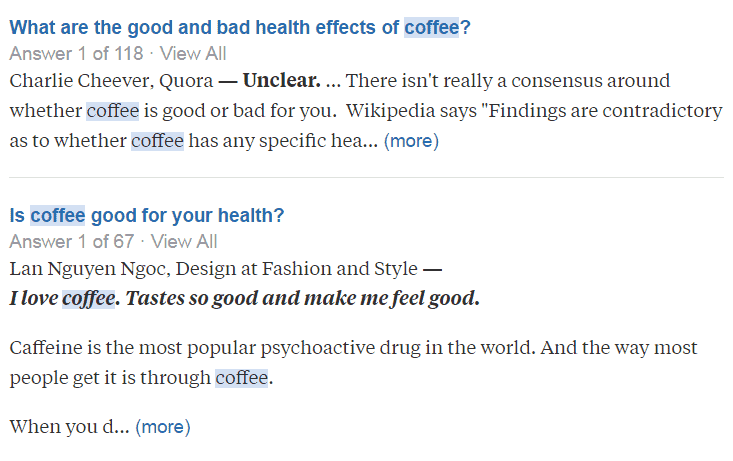Search - coffee - Quora