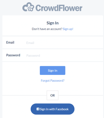 Sign In CrowdFlower