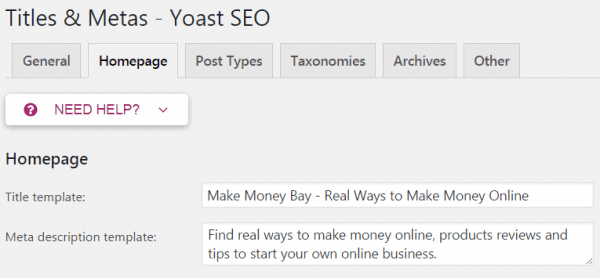 Titles & Metas - Yoast SEO