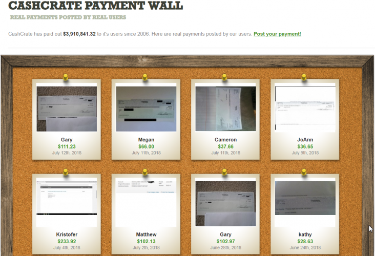 CashCrate - payment proof