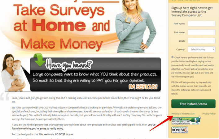 Survey Money Machines Homepage