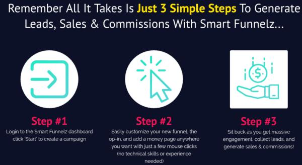 3 steps - Smart Funnelz