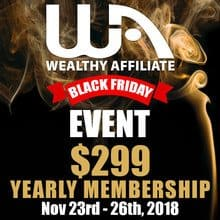 Wealthy Affiliate Black Friday 2018 - The Offer Of The Year!
