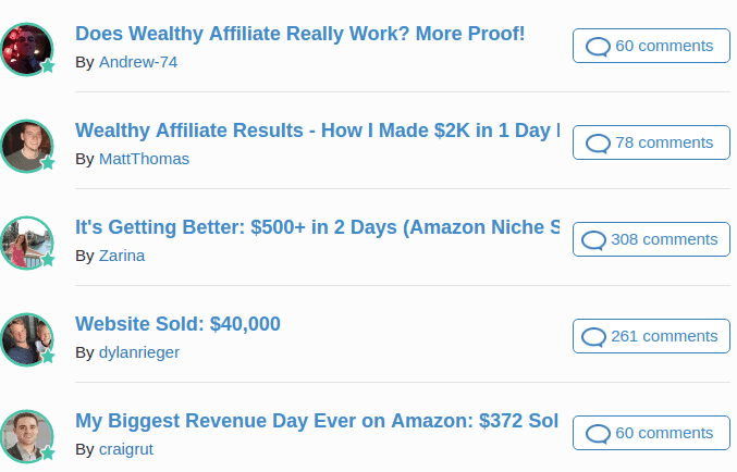 wealthy affiliate success stories 2