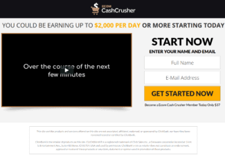 ecom cash crusher review - scam or legit?
