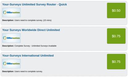 offernation surveys
