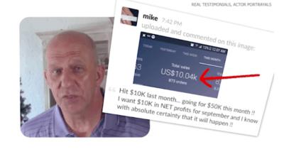 fake testimonial - money miracle