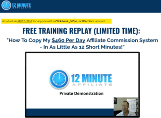 Save On 12 Minute Affiliate System  Affiliate Marketing Voucher