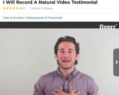 fake testimonial - fiverr male 2