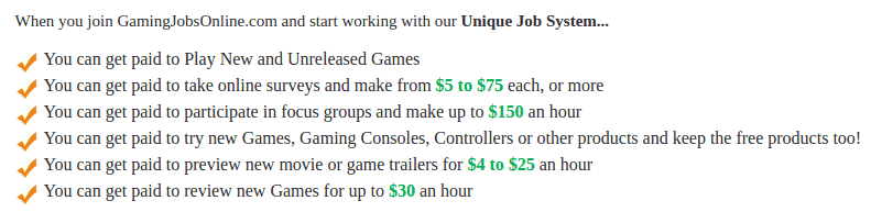 gaming jobs online system