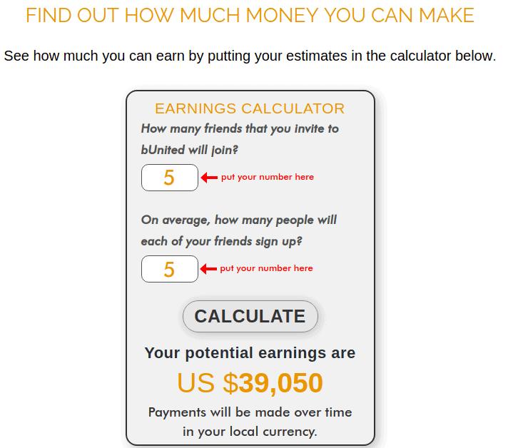 bunited calculator
