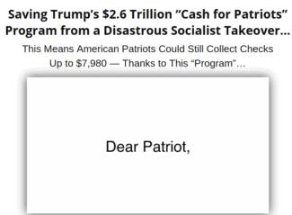 cash for patriots program review - scam or legit?