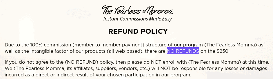 refund policy - the fearless momma