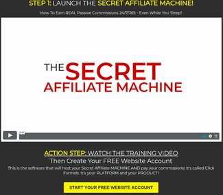 secret affiliate machine inside