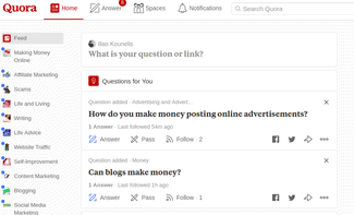 how to make money using quora