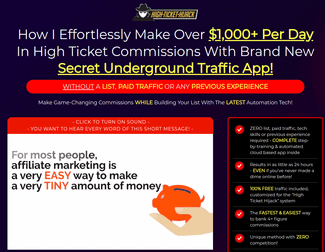 high ticket highjack review - scam or legit?