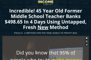 the income formula review - scam or legit?