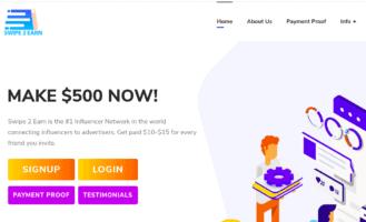 swipe 2 earn review - scam or legit?