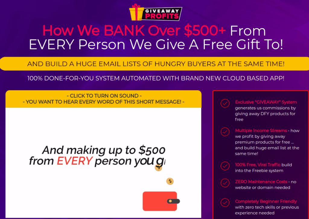 giveaway profits review - scam or legit?